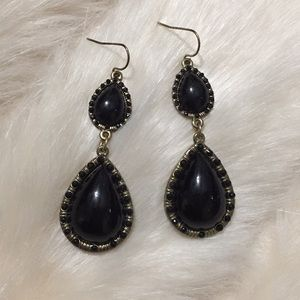 ✨ Black and gold earrings